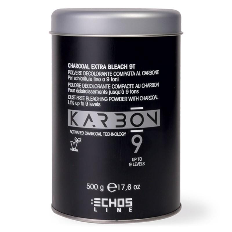 KARBON 9-CHARCOAL EXTRA BLEACH 9T- POLVERE DECOLORANTE AL CARBONE 9 TONI 500GR.